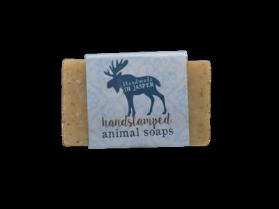 Handstamped Animal Soap - Moose