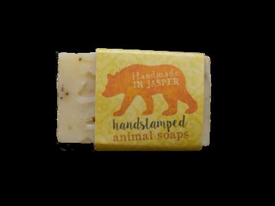 Handstamped Animal Soap - Bear