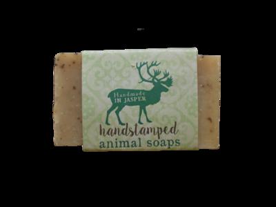 Handstamped Animal Soap - Caribou