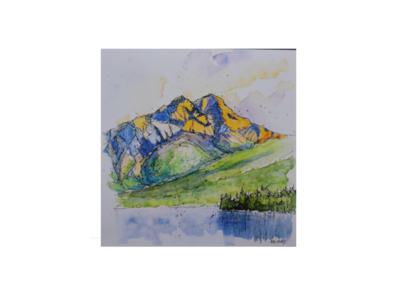 Pyramid Mountain Art Card
