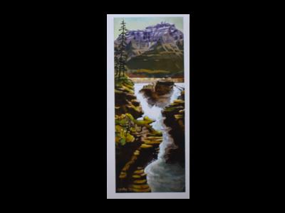 Athabasca Falls Art Card