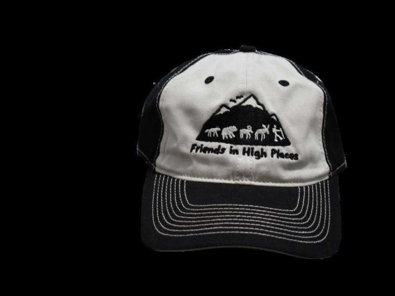Friends in High Places Logo Hat - Black & Cream
