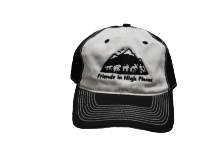 Friends in High Places Logo Hat - Black & Cream