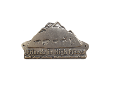 Friends in High Places Logo Walking Stick Badge