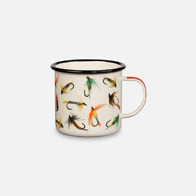Mug - Enamel Fishing Flies