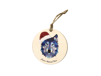 Ornament - Holiday Wolf