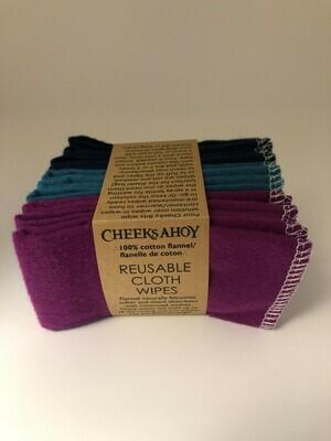 Reusable Cloth Wipes - Jewel Tones