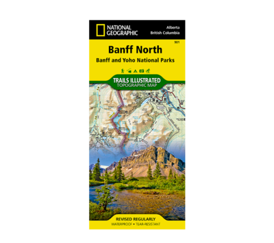 National Geographic Banff North Map