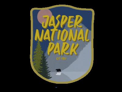 Vintage Jasper National Park Magnet