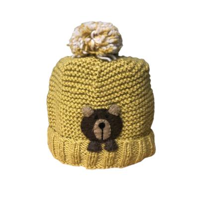Ambler Kids Peek-A-Boo Bear Wool Toque