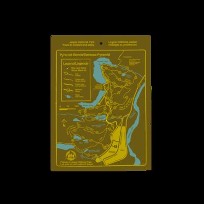 Vintage Pyramid Bench Trail Map Sticker
