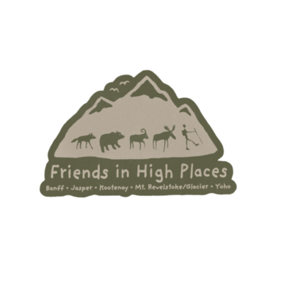 Vintage Friends in High Places Logo Magnet