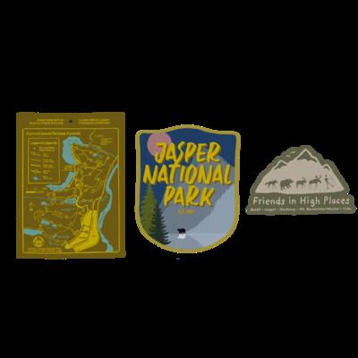 Jasper National Park Sticker Pack