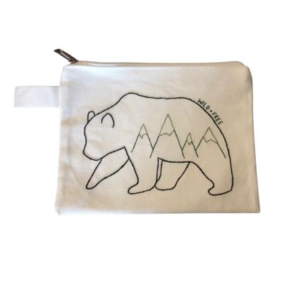 Pouch - Geometric Mountain Bear