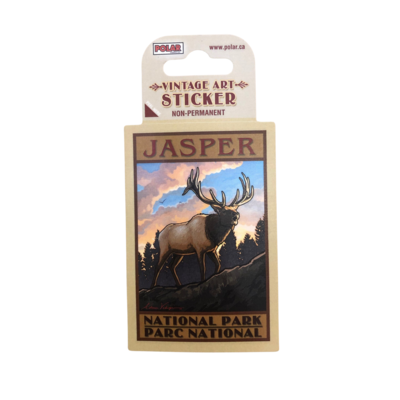 Elk Vintage Sticker