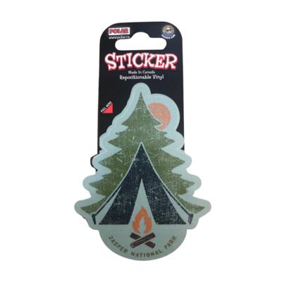 Tent & Campfire Sticker