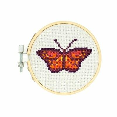 Mini Cross Stitch Kit - Butterfly