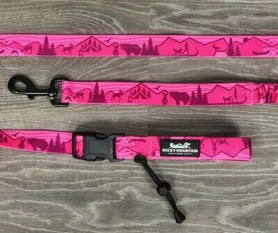 Rocky Mountain Dog Pink All-Mountain Dog Leash