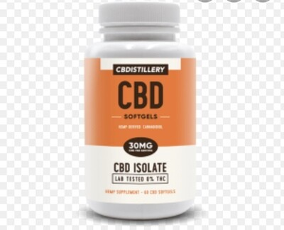 CBD distillery 1800mg soft gels