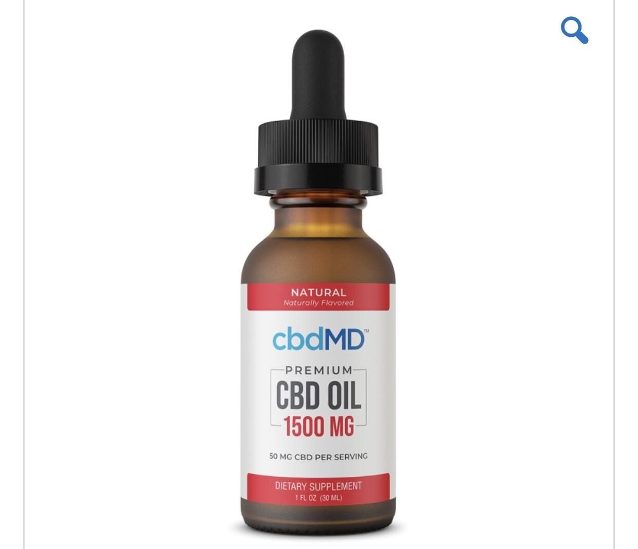 CBDMD 1500 mg Berry Oil