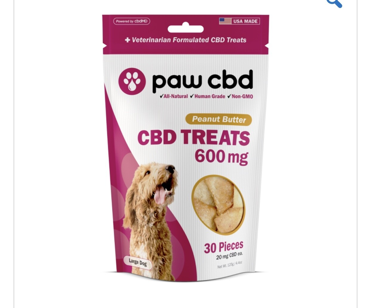 CBDMD Dog Treats 600 mg