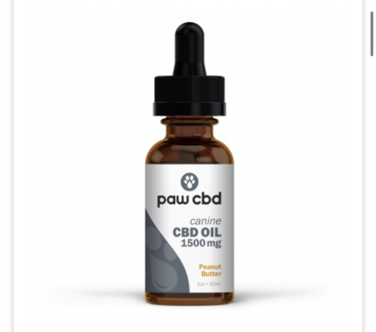 Paw CBD 1500 mg oil