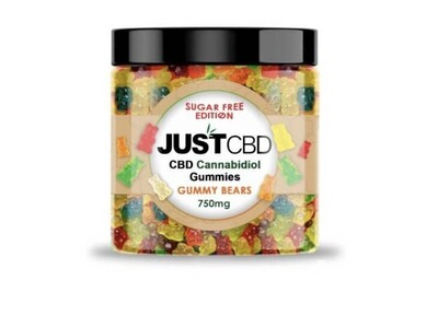 Just CBD 750MG Sugar Free Gummie Bears