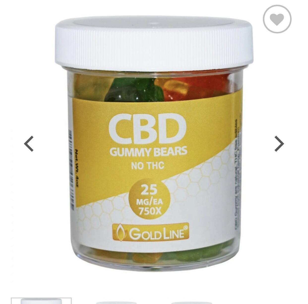 Goldline 500mg 20ct Gummies