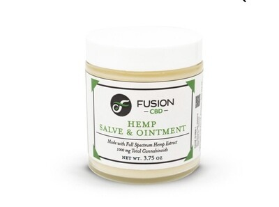 Fusion CBD 1000 mg hemp salve and ointment