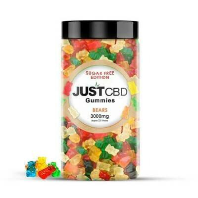 JustCBD 3000MG Sugar Free Gummie Bears