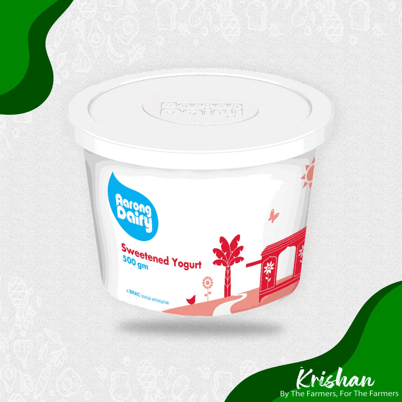 আড়ং মিষ্টি দই (Aarong sweetened yogurt) (500 ml)