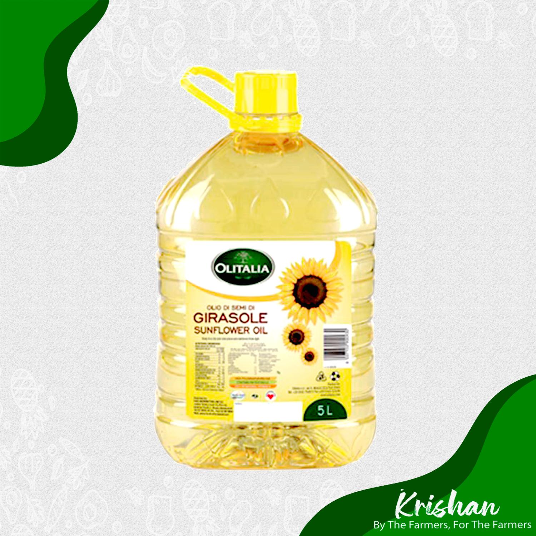 অলিটালিয়া সূর্যমুখীর তেল (Olitalia Sunflower oil) (5 L)