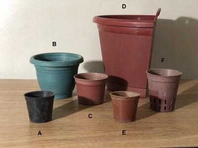 Tiny to Medium Pots