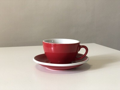 Acme Red Cappuccino Cup & Saucer