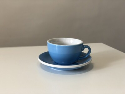 Acme Blue Cappuccino Cup & Saucer