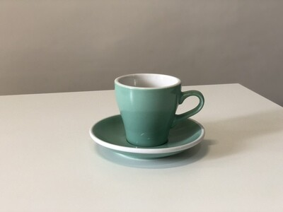 Acme Green Tulip Cup & Saucer