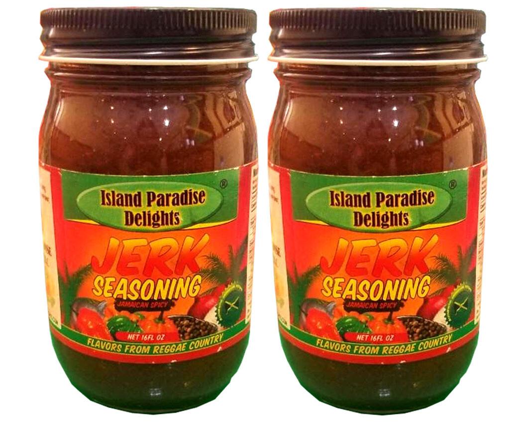 Jerk Seasoning - Spicy Jamaican Jerk Seasoning - 16 FL Oz (2 Jars)