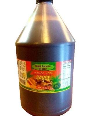 Mango Jerk Sauce and Marinade - Bulk (1 Gallon / 128 Fl Oz)