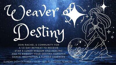Weaver of Destiny ~ Awakened Belly Dance Meditation & Flower Essence - Goddess Journey~ LIVE event IN MOLD, FLINTSHIRE ~ 24th October 2021
