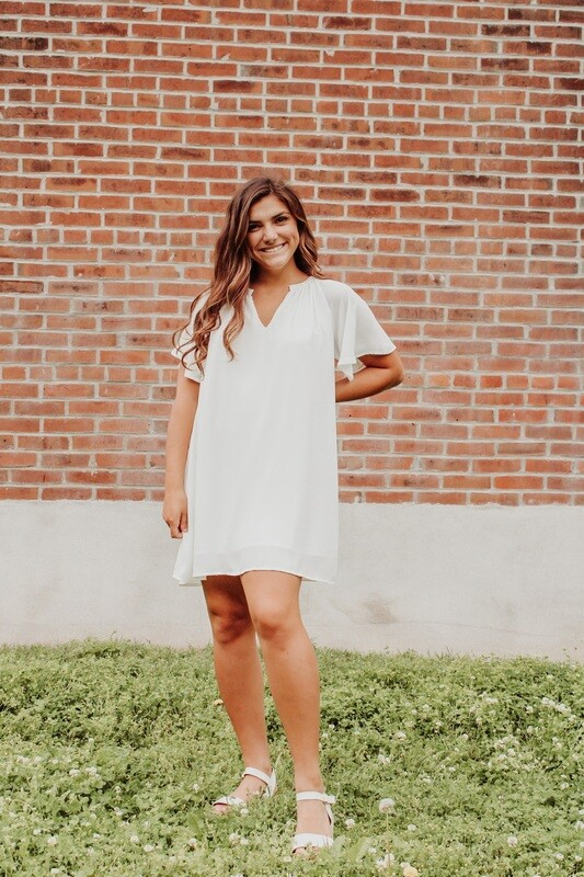 Ivory Flowy Sleeve Dress