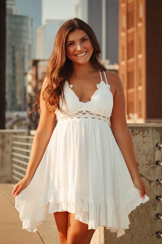 Ivory Lace Bralette Dress