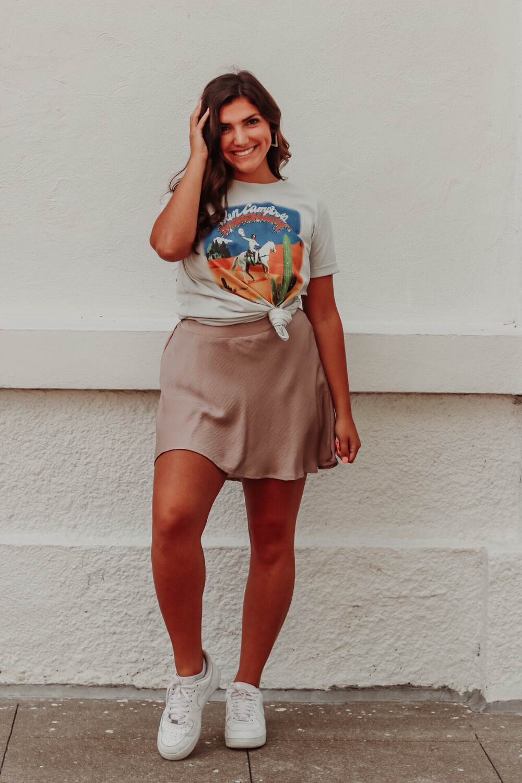Mink Satin Skirt