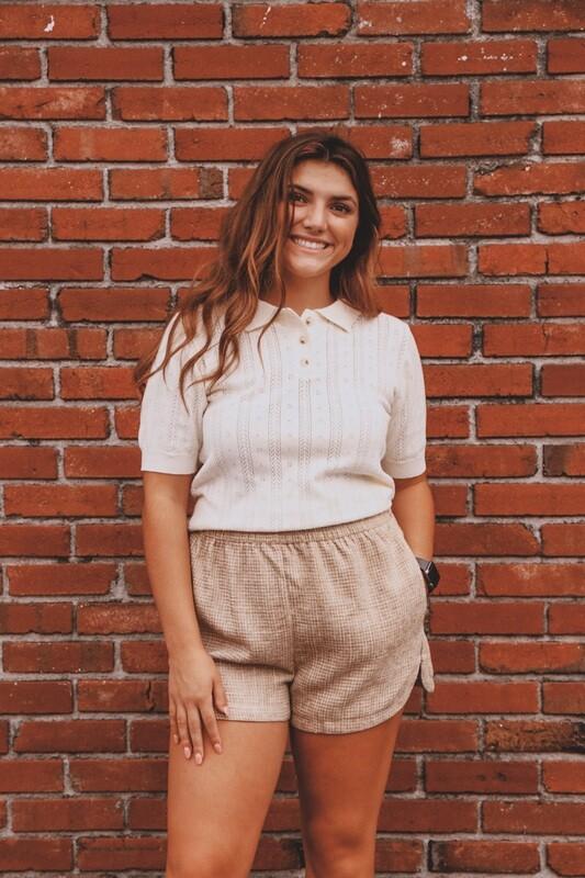 Cream Button Down Sweater