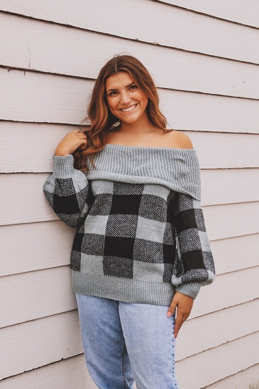 Blue Buffalo Check Sweater