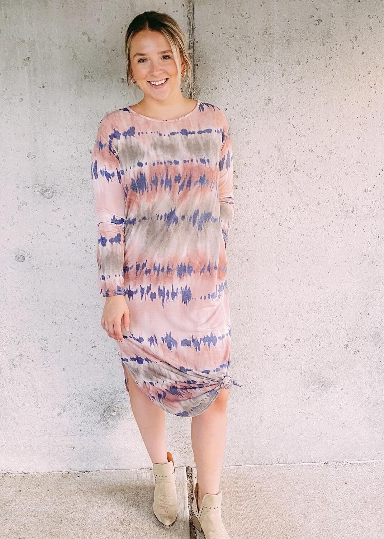 Berry Tie Dye Dress