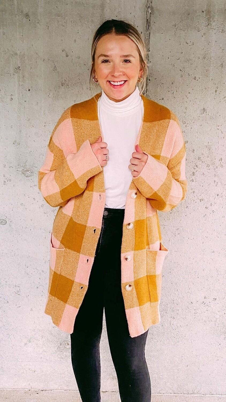 Plaid Sweater Jacket