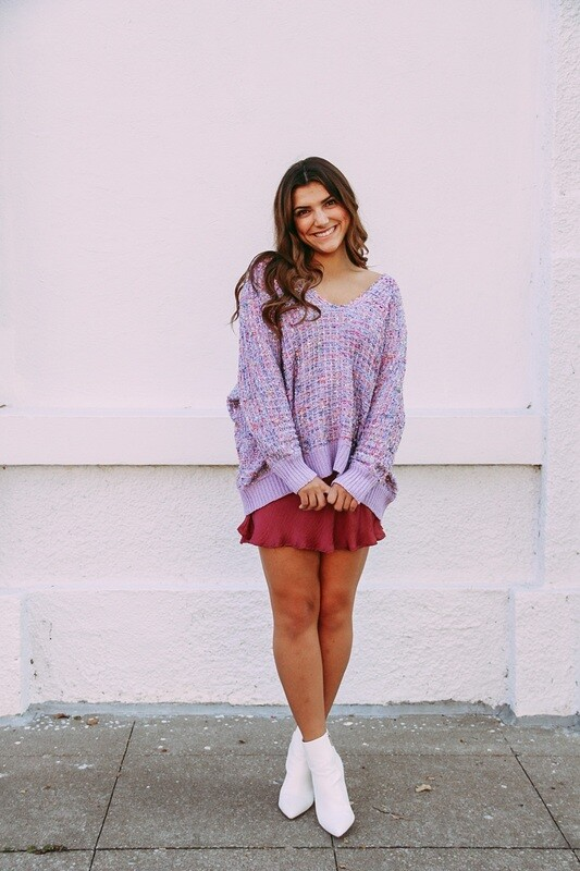 Lilac Boucle Sweater