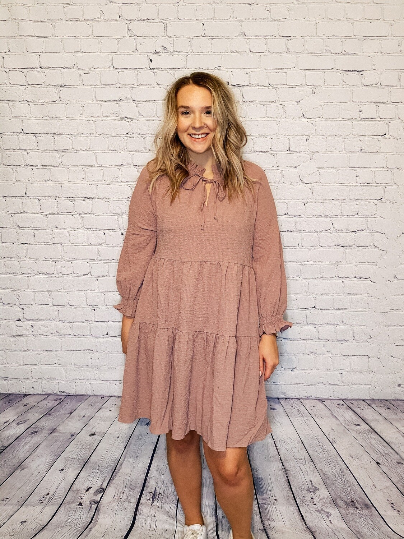 Mauve Babydoll Dress