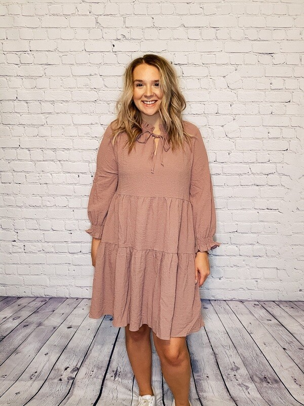 Mauve Babydoll Dress