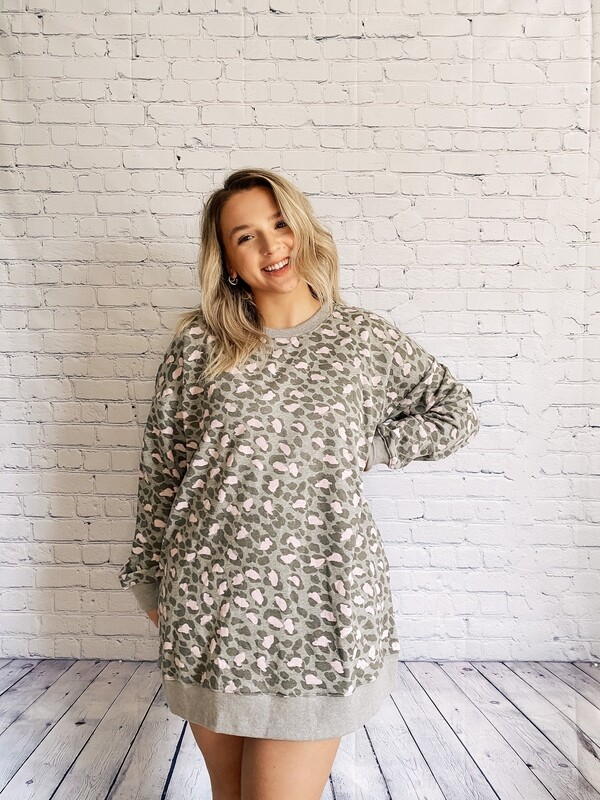Leopard Long Sweatshirt